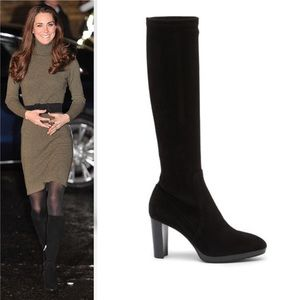 Aquatalia Roselyn Knee-High Stretch Suede Boot